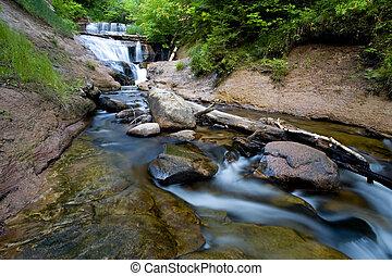 Michigan Waterfall - Michigan's Sable Falls in the...