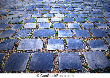 Cobblestone background - Background of cobblestone pavement...