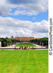 Versailles gardens and palace