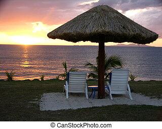 fijian, Sonnenuntergang