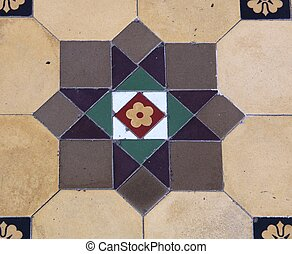 Tile - Beautiful Pavement Designs at the Mirrored Temple,...