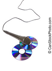 Black Microphone and cd