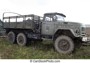 Truck - Old, vintage military truck from Soviet Union