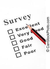 questionnaire close up shot