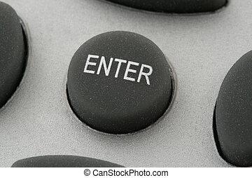 enter button  - extreme close-up of enter button