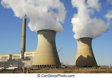 Power Plant - A Large Fossil Fuel Power Generation Plant