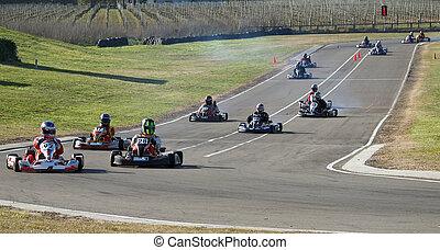 Red Light On - Go Karts still under the red light