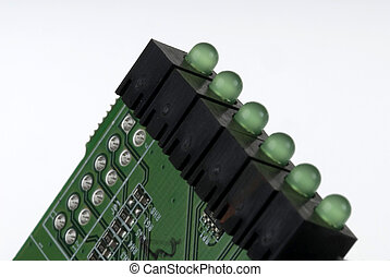 Printed Circuit Board - Close up detail of a Printed Circuit...