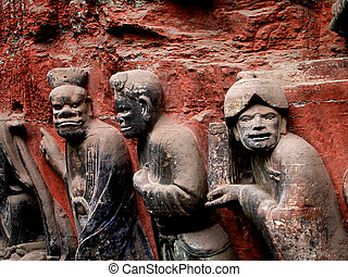 Rock Carvings Dazu, China - Rock Carvings, Dazu, Chongqing,...