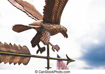 American Eagle Weathervane - Copper weathervane detail