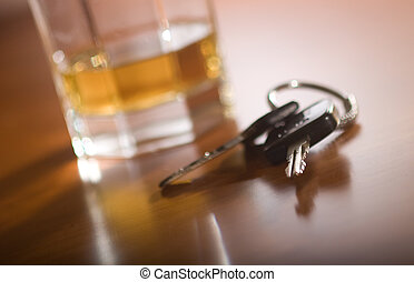 dont drink and driv - A set of car keys in the foreground...