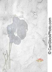 Floral Design - old paper design