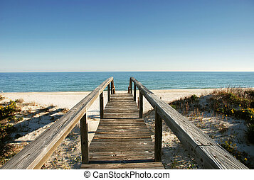 boardwalk at the ocean - Gulf of Mexico, FL