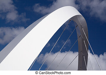 suspension arc - The supporting arch of the Clyde Arc bridge...