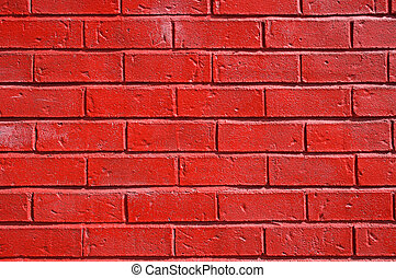 Red painted brick wall background