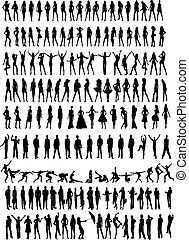 People silhouettes - illustration