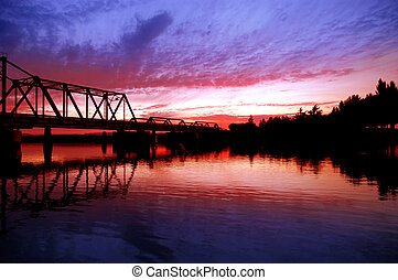 Trestle Bridge over San Joaquin River - Trestle Bridge and...