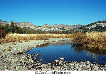 Low Water Stream - Low Water Trout Hole in Mountain Stream,...