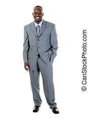 Business Man in Gray Suit 1 - Fashionable, handsome man in...