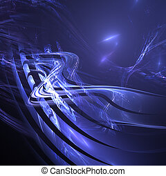 Winding Road - abstract blue winding road