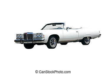 Seventies Convertible Isolated - This is a picture of a...