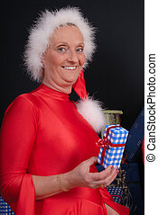 Santa Claus woman - Xmas, Christmas time, santa claus woman...