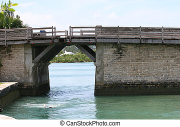 Worlds Smallest Drawbridge - A small drawbridge over an...