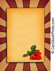 paper background with flower motive