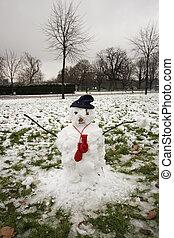 Hyde park in winter - A winter scene of Hyde Park in London.