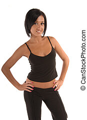 female in Sport wear - Attractive female in sports wear...