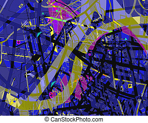 Map confusion - Abstract design of a confusing streetmap