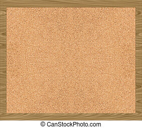 corkboard - a nice large image of a cork board with frame