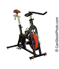Indoor Cycle - Black indoor cycle with red detail.