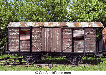 Old wagon - Old rusty train wagon