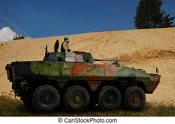 military armoured carriage used by Polish Army in Afganistan...