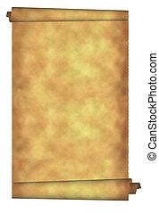 Torn parchment