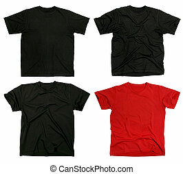 Blank t-shirts - Photograph of four blank t-shirts, new and...