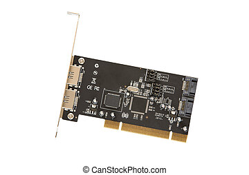 Computer - PCI circuit board for a SATA port in a computer...