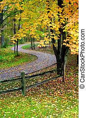 otoño, escénico