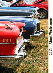 Muscle Cars In A Row - Muscle cars in a row at vintage car...