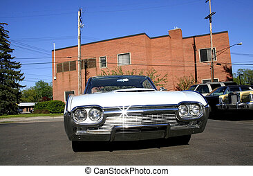 Muscle Car  - Wide angle photo of American muscle car