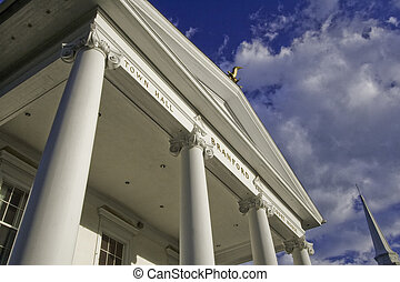 Branford, Connecticut Town Hall - Municipal building on the...