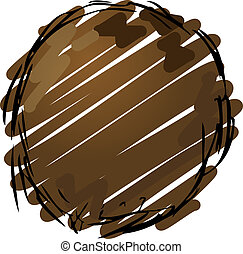 Coconut - Sketch of a coconut. Hand-drawn lineart look...