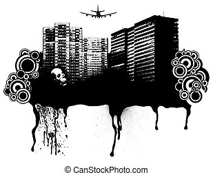 gothic delight - Gothic city scape with room to add your own...