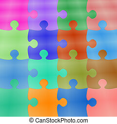 Puzzle Background - Colorfull Puzzle Background