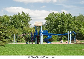 Playground - An empty playground on a nice sunny day