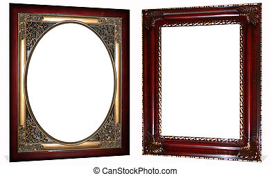 Ornate Gold and Cherry Frames