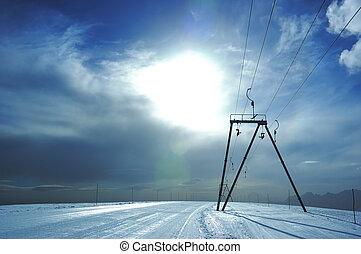 ski-lift slope