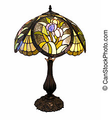 Antique Table Lamp - An old table lamp with decorative glass...