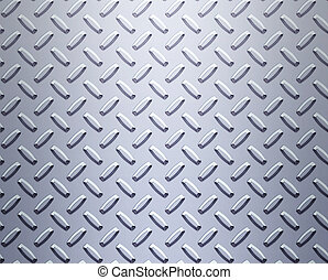 steel diamond plate - a very large sheet of cool silver or...